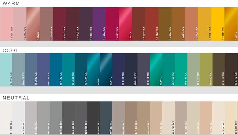 Psicología del color y significado aplicado en textiles: Colores fríos