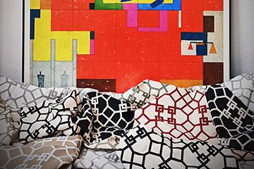 Estampados textiles personalizados para decorar el hogar: Geométrico